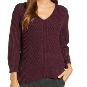 Lou & Grey rosie tunic sweater burgundy alpaca